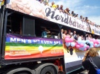 "The float of the ""Northen Bears Hamburg""..."